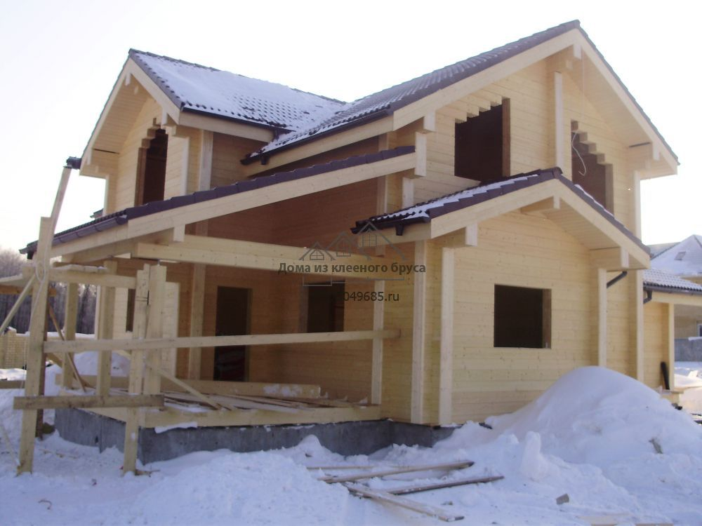 постройка дома из клеёного бруса