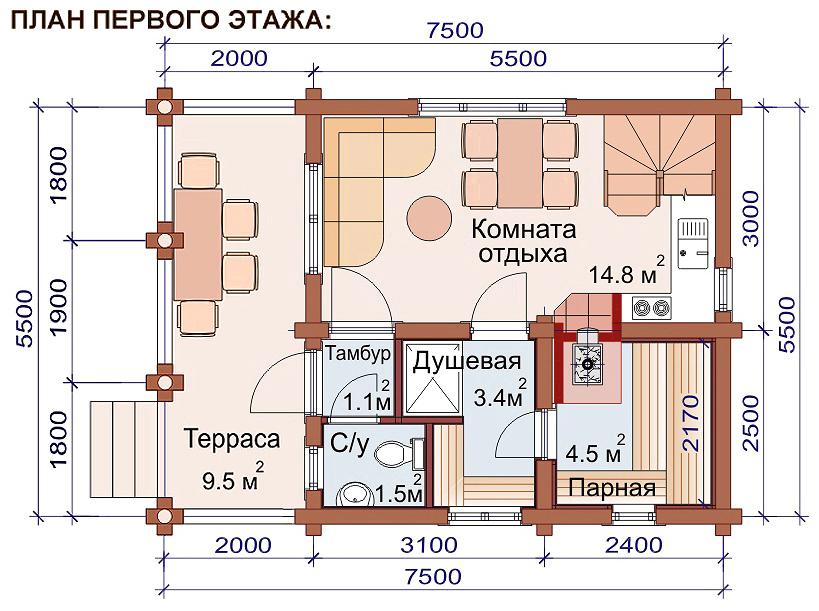 баня проект 36 35 4м2 4х10м